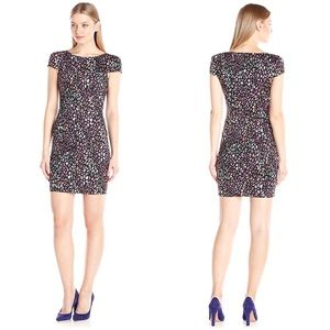 French Connection Electric Leopard cap sleev Dress